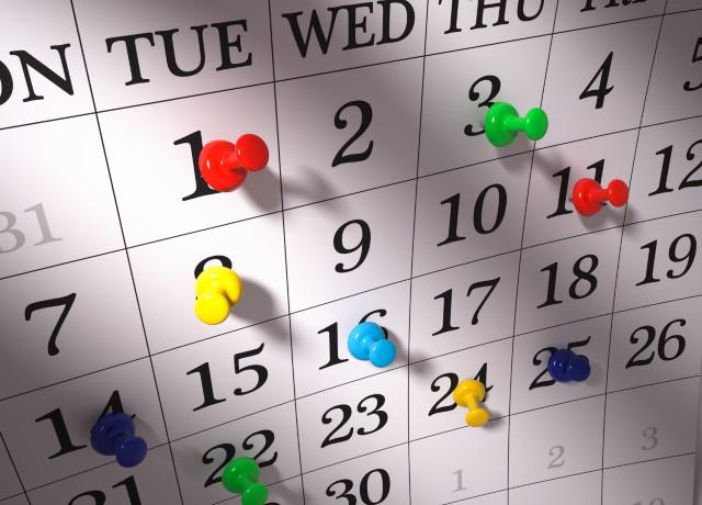 Calendar for 2016 - 2107